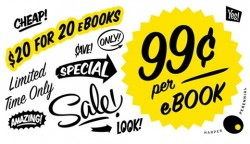 "HarperCollins now running a ""20 for 20"" ebook promotion eBookstore"