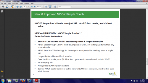 Nook Touch to Get Price Cut on Monday - $99 e-Reading Hardware