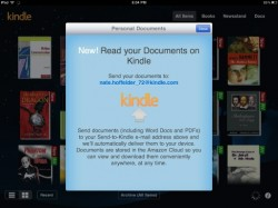My iPad Now Has a Kindle Email Address & Backs up My Notes! Amazon