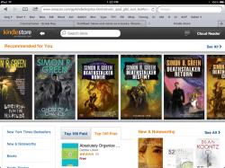 Amazon Launches iPad Optimized Kindle Store Amazon Apple e-Reading Software