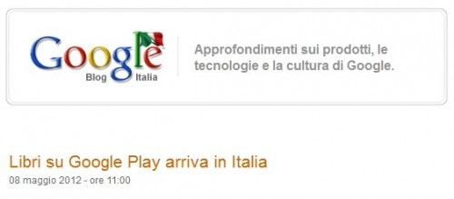 Google eBookstore Now Open in Italy eBookstore Google