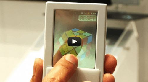 Dual Sided Transparent Android Smartphone Unveiled in Japan (video) e-Reading Hardware