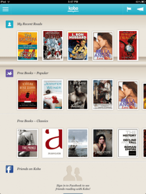 Kobo iOS App Updated e-Reading Software