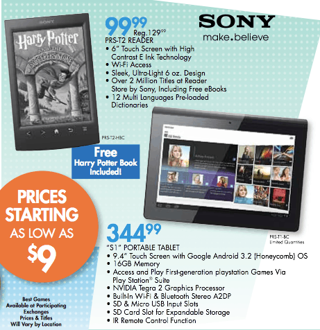Sony Reader PRS-T2 to go on Sale in September for $99 | The