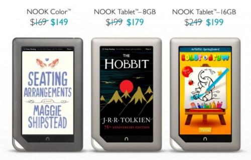 Nook Tablet, Nook Color Get a Price Cut e-Reading Hardware