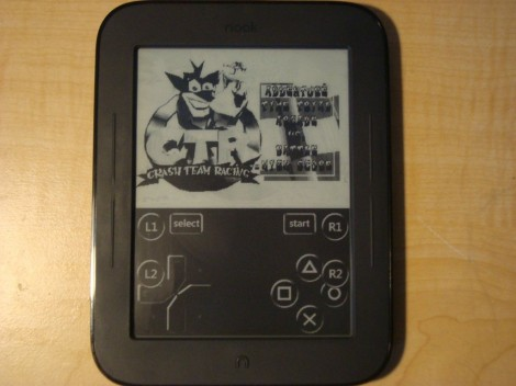 PlayStation Gaming on a Nook Touch (video) e-Reading Hardware