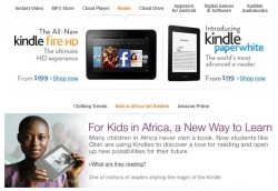 Amazon Now Promoting an African Literacy Program on Their Homepage e-Reading Hardware e-Reading Software