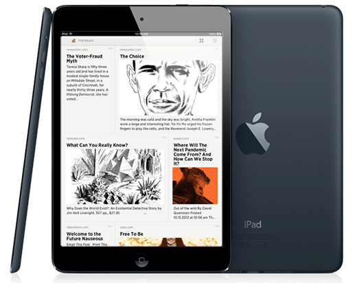 Readability Adds New Grid View Reading Option for iPad and iPad Mini Apps e-Reading Software
