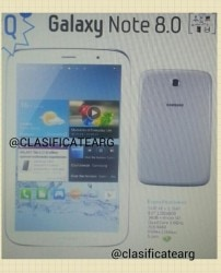 Samsung Galaxy Note 8 Leaked Images Confirm Tablet, Specs e-Reading Hardware