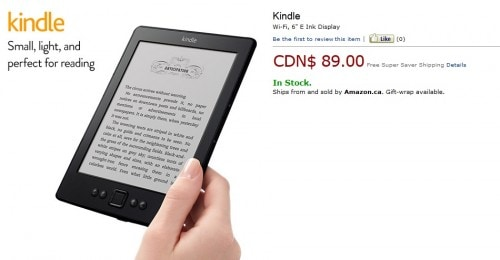Amazon is Now Selling Kindles via Amazon.ca Amazon e-Reading Hardware