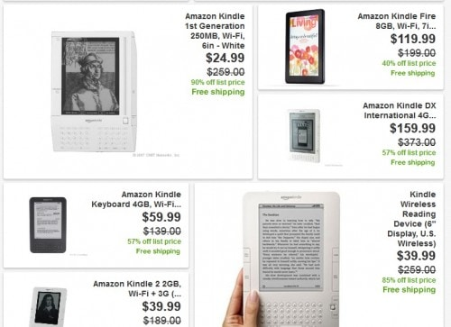 kindle ebay sale