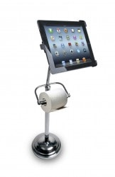 World's Greatest Invention: iPad Toilet Paper Stand e-Reading Hardware
