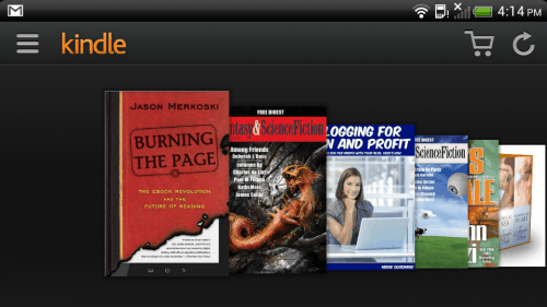 Kindle for Android Updated With Optional Carousel View Amazon e-Reading Software
