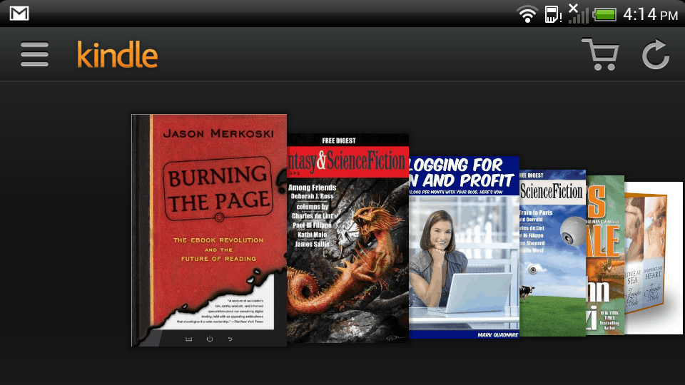 Kindle for Android Updated With Optional Carousel View | The