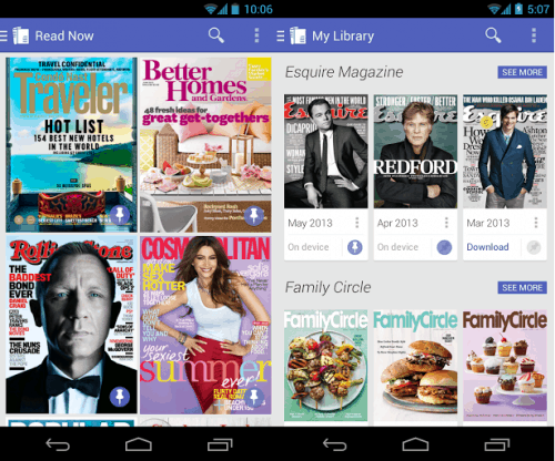 Google Play Magazines Updated With New Interface e-Reading Software
