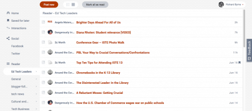 FlowReader Combines RSS Feeds With Twitter, Facebook Feeds Google Reader Alternatives News Reader