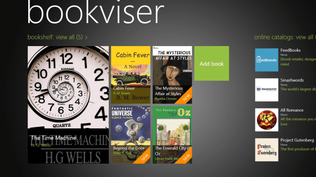 BookViser Arrives on Windows 8 e-Reading Software