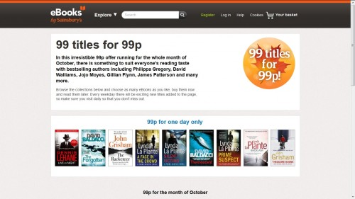Sainsbury's Gets Serious About UK eBook Market - Launches 99p Sale eBookstore