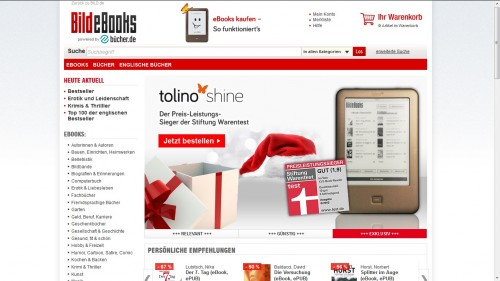 German Newspaper Bild Launches eBookstore, Now Sells Tolino eBook Readers eBookstore Streaming eBooks