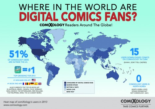 Map: Where in the World are comiXology and Digital Comics Fans? AAP Comixology Infographic