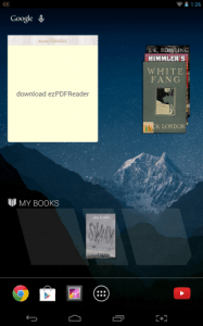 android ebook widgets