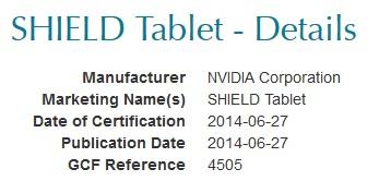 shield nvidia certification tablet