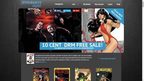 dynamite comics DRM-free store