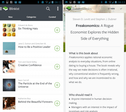 Blinkist Brings Its Cliff Notes Style App to Android Condensed eBooks