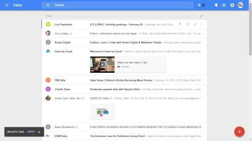 Inbox by Google chrome