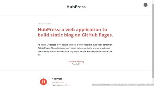 HubPress Makes it Easier to Host Your Blog at GitHub Web Publishing