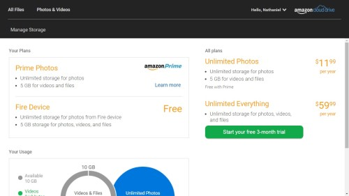 """Amazon Launches """"Unlimited"""" Cloud Storage, Kicks Kindle Owners to the Curb Amazon Cloud Storage e-Reading Hardware"""