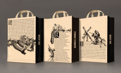 B&N Goes Back to Its Roots, Puts First Pages of Classic Books on Its Shopping Bags Barnes & Noble