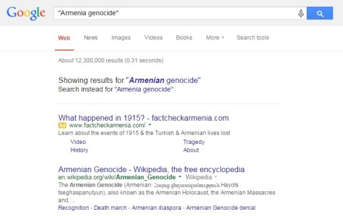 Are Google's Search Results Promoting Genocide Denial? Google