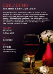 "Amazon Publishing to Hold ""Kindle Light Dinner"" in Berlin Amazon Publishing"