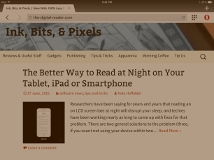 Opera for iOS v10.2.0 Adds Night Reading Mode, Blue Light Filter e-Reading Software Web Browser