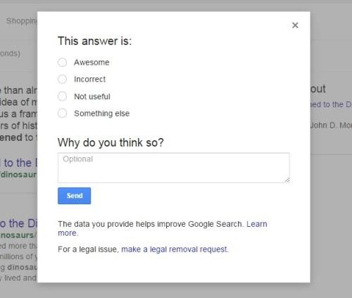 feedback google