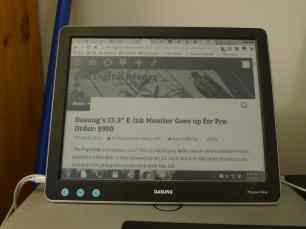 """One Week With Dasung's 13.3"""" E-ink USB Monitor (video) e-Reading Hardware"""