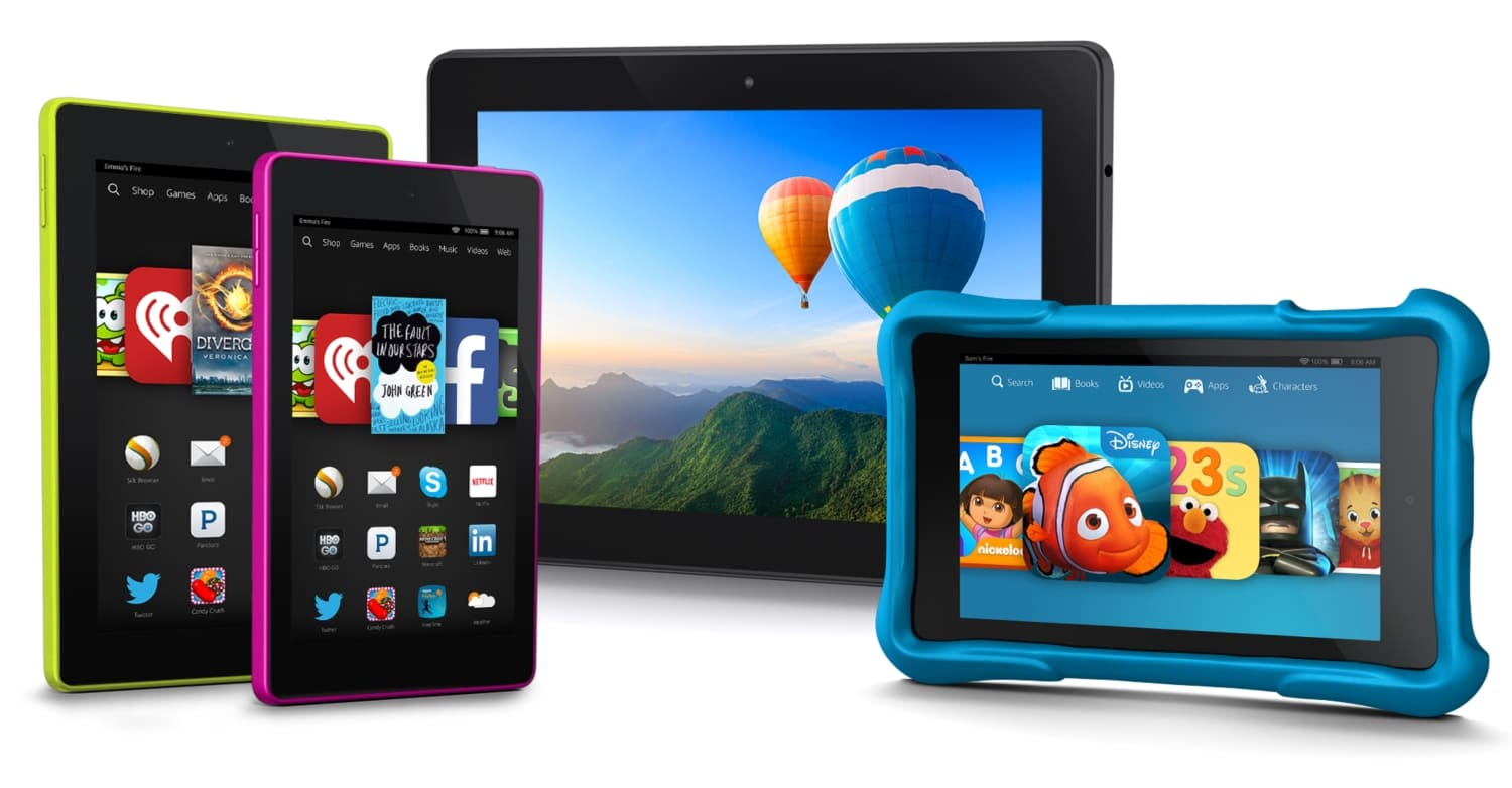 Fire Tablet Sales Boost Amazon to Third Place in a Shrinking