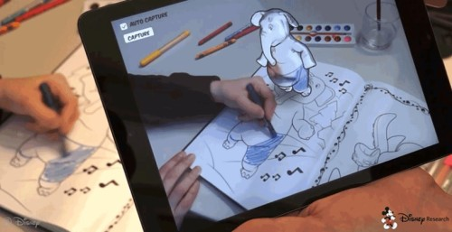 Disney's Augmented Reality Coloring Books Brings Creations to Life (video) e-Reading Hardware e-Reading Software Paper