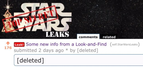 star wars TFA deleted Reddit