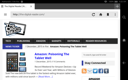 Amazon Silk Web Browser: Here's What Changed in the Fall 2015 Update Amazon Web Browser
