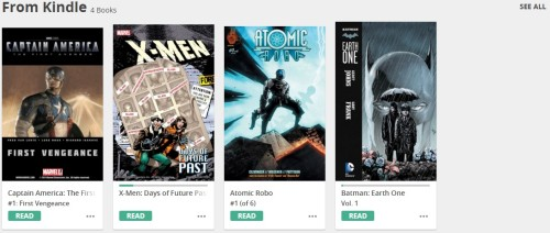 amazon comixology from kindle
