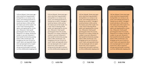 Google Play Books' Night Light Feature Makes It Easier To Read At Night e-Reading Software Google Books