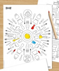 The Ikea Coloring Book Comes With an Allen Wrench, But No Assembly Instructions Paper