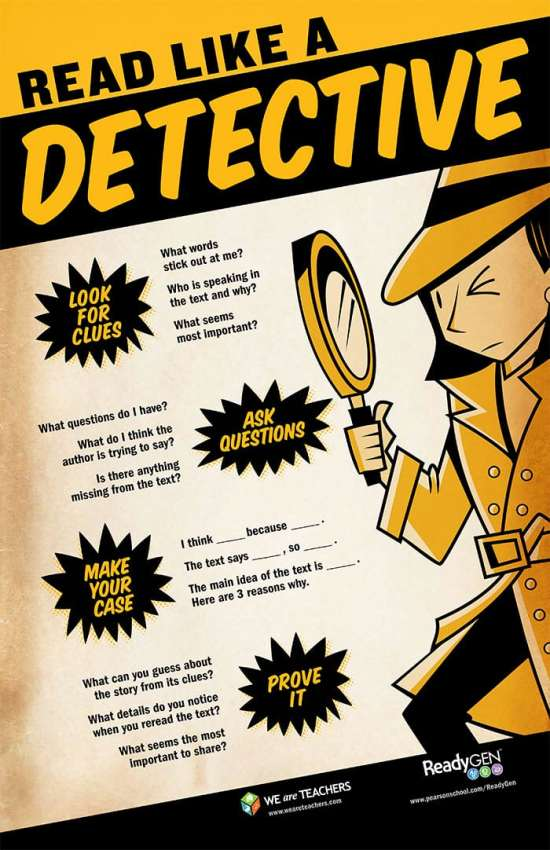 Infographic: How to Read Like a Detective Infographic