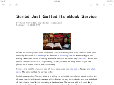 Pocket v6.2 for the iPad Adds Dyslexic Font, Premium Options e-Reading Software Save for Later