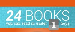 Infographic: 24 Books to Read in Under an Hour Infographic