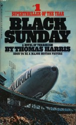 Black Sunday by Thomas Harris, Bantam 1976 paperback, Cover by Lou Feck