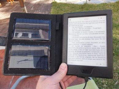 DIY Solar Case for the Kobo Aura H2O e-Reading Hardware