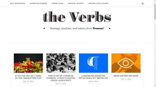 Pronoun Launches a Blog - The Verbs Uncategorized